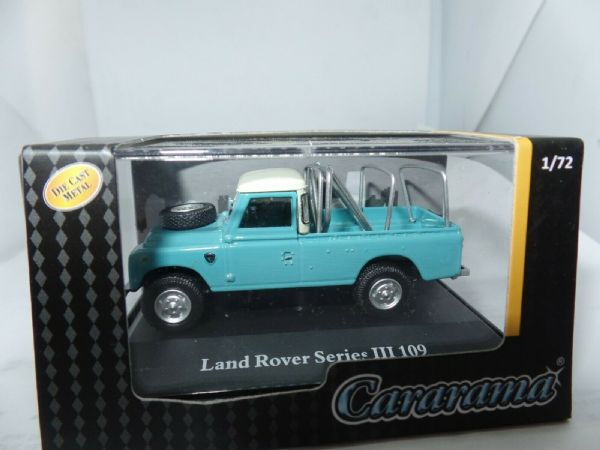 Cararama 7-52241 1/72 Scale Land Rover Series III 109 Light Blue Turquoise Frame
